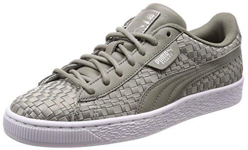 Puma Damen Basket Satin EP WN's Sneaker, Grau -