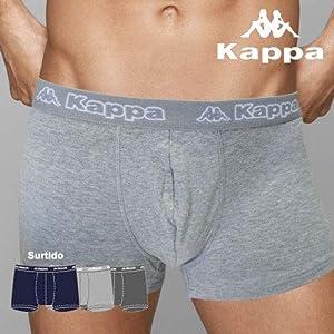 Kappa – K1221 Boxer Hombre ALGODÓN Lycra Pack DE 3 Unidades