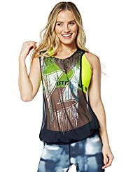 Zumba Fitness Hangin 'Loose Mesh – T-shirt sans manches pour femme