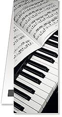 Idea Regalo - Anne Fuzeau Creation Segnalibro Magnetico - Tema Piano - Regalo Musica