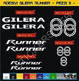 Aufkleber stickers GILERA RUNNER -Motorrad- Cod. 0559 (Bianco cod. 010)