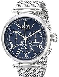 Burgmeister Armbanduhr für Herren mit Analog-Anzeige, Chronograph mit Edelstahl Armband - Wasserdichte Herrenarmbanduhr mit zeitlosem, schickem Design - klassische Uhr für Männer - BMP01-131 Toulouse
