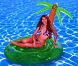Palmeninsel Badeinsel mit grosser Palme Insel mit Palme der ultimative Badespaß / Insel für ideale Urlaubsstimmung / Schwimminsel / Badeinseln / Relaxen auf der eigenen Insel / Maße ca. 160 cm x 160 cm
