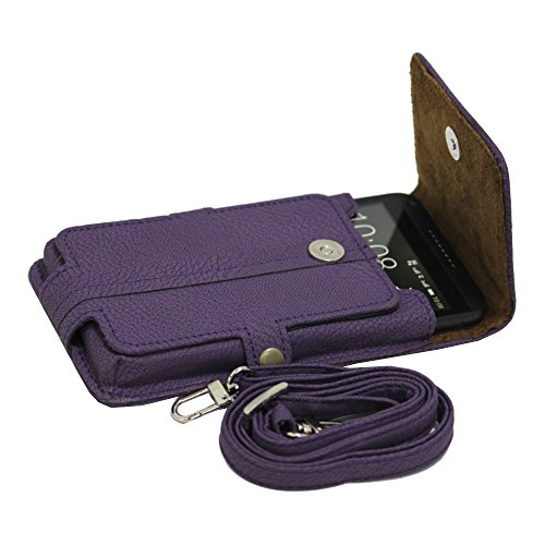 J Cover A6 G8 Series Leather Pouch Holster Case For Oppo F1s Purple