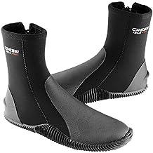Cressi Boots With Soles Calzari in Neoprene per Immersione con Suola, Unisex – Adulto, Nero, L - 42/43