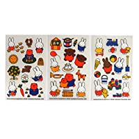 Eurosales BV Miffy - Colourful Creative Rub on Transfer Stickers - 3 Sheets