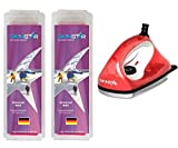 SkinStar Starter Ski Wachs Set, UNIVERSAL-Wax All IN ONE High Skiwachs Wachsbügeleisen