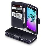 2016 Galaxy A5 Case, Terrapin [ECHT LEDER] Brieftasche Case