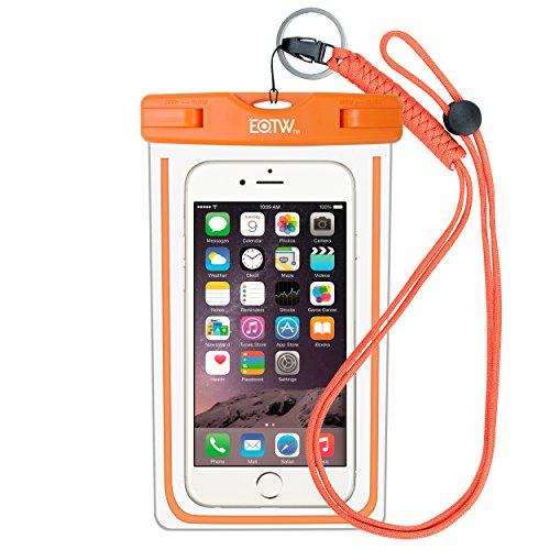 EOTW IPX8 Universale Custodia Impermeabile per Smartphone Fino a 6 Pollici Touch Screen,Sacchetto Impermeabile Borsa Cellulare iPhone 7 plus,6 plus,6s plus/Huawei p10,p9 lite plus,p8 lite plus,mate s/Samsung s8+,s7 edge,s6 edge plus,note 5,4,3/LG 5,4,3,2 ecc - Arancia