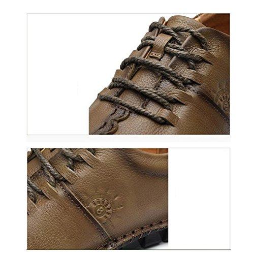 De color Deportes Hombres De Los De Zapatos Planas 39 Caqui Marrón Respirables Cómodos 40 Cuero Los Mocasines Ocasionales Los qIxwXx6H