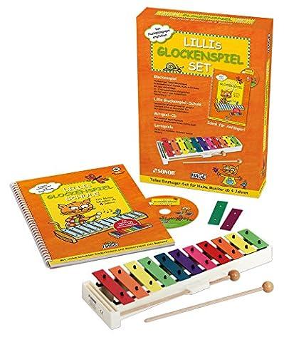Lillis Glockenspiel Set - Buch inkl. Audio CD und hochwertigem SONOR Glockenspiel