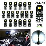 AGLINT 20X Ampoules T10 LED CANBUS Sans Erreur Voiture Lampe 12V Blanc T10 W5W 2825...