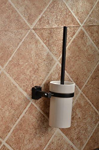 Mangeoonuovo nero bronzo, antiquariato europeo di rame sede quadra spazzola per wc, wc nero telaio cup, bagno, pendente