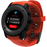 GPS Running Watch Heart Rate Monitor Wrist Sport Watch Smart Notifications GPS Smart Watch for Men Women Multi-Sports Modes Compatible Phone with 3-4 Days Standby Charging Station (orange)