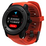 Parnerme GPS Courir Montre Smart Notifications GPS Montre Intelligente pour Hommes Femmes (Orange)