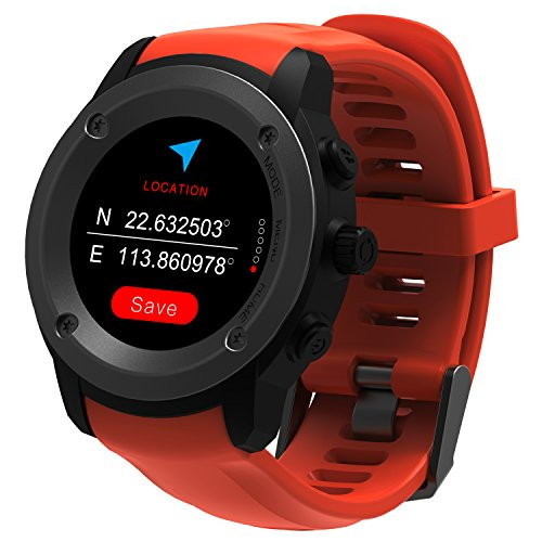 Parnerme GPS Running Watch Pulsmesser Handgelenk Sportuhr Smart Benachrichtigungen GPS Smart Watch für M?nner Frauen Multi-Sport-Modi Kompatibel Telefon mit 3-4 Tage Standby-Ladestation (Orange) Mode-telefon