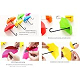 Creative 3PCS/set Umbrella Shape Clothes Key Hat Holder Wall Hook Colorful Home Decoration Shelves Hanger Rack - B075BLT4VV