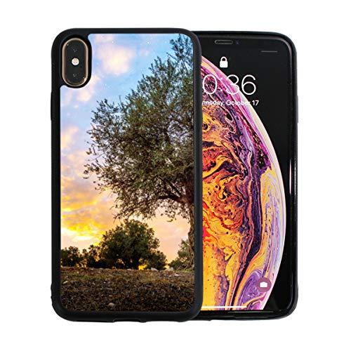 WYYWCY Olive Olive Trees In Olive Gardens Apfel-Telefon Xs Max Case Screen Protector TPU Hard Cover mit dünnem stoßfestem Stoßfänger Schutzhülle für Apple Phone Xs Max 6,5 Zoll