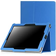 MoKo Asus ZenPad 10 Funda - Ultra Slim Función de Soporte Plegable Smart Cover Stand Case para Asus ZenPad 10 Z300C / Z300M / Z300CNL / Z300CG / Z300CL 2015 Tableta, AZUL