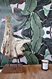 Tapete mit Kaleidoskop-Muster, Bananenblattmotiv, tropische Tapete