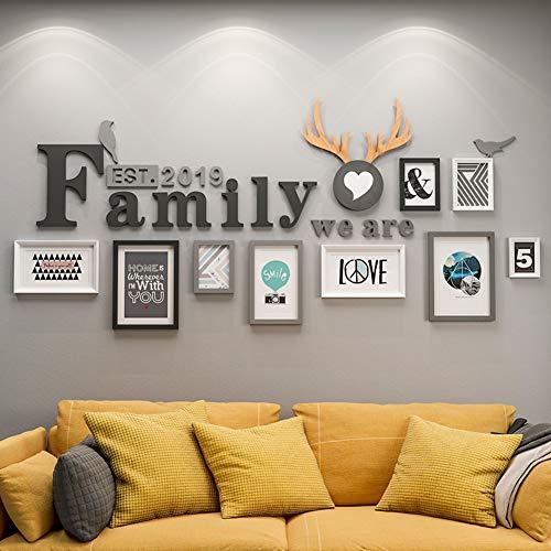 HAOLY Fotowand,Dekoration Wohnzimmer Schlafzimmer Kreativ Persönlichkeit Hintergrundwand,das Album Kombination Ungültige Anforderung-f -