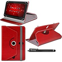 "iTechCover® Rojo Universal Serie Ángulo Múltiples Executive Folio Funda Carcasa Wallet Case Cover apto para Teclast T98 / X98 Air 3G 9.7"" Tablet + Lápiz Óptico"