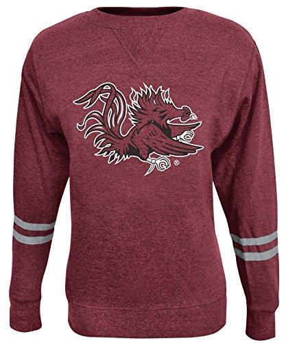 NCAA Damen Crew Sweatshirt, Damen, ROSAURA, rot, Medium (Scoop Sweatshirt Neck Fleece)