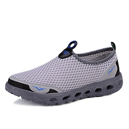 Men Shoes 2019 Fashion Brand Mesh Shoes Breathable Slip on Summer Casual Shoes Grey 7 Nina Ankle Strap Heels