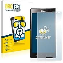 BROTECT AirGlass Protector Pantalla Cristal Flexible Transparente para LG Electronics P760 Optimus L9 Protector Cristal Vidrio - Extra-Duro, Ultra-Ligero, Ultra-Claro