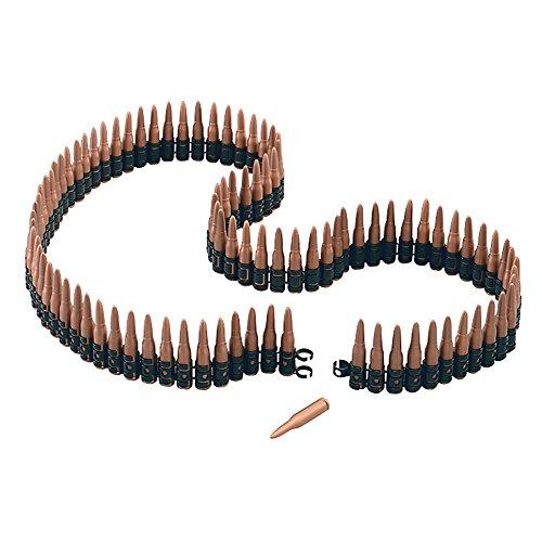 Bristol Novelty ba527lang Kunststoff Bullet Gürtel, eine Größe (Rambo Halloween-kostüm Für Kinder)