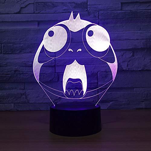 HNXDP Lovely Owl Lámpara 3D Acrílico LED Animal Bird 3D Lámpara de luz nocturna Lámpara de atmósfera...