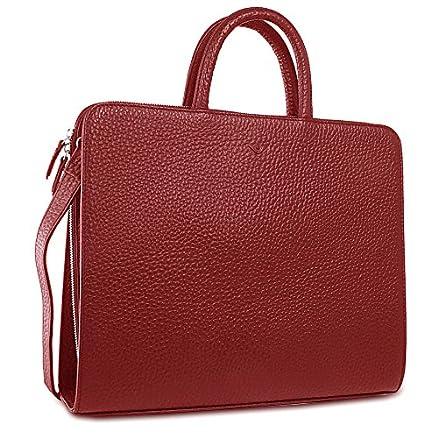 Voi Hirsch Kate Leder Handtasche, Granat