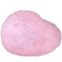 LEORX suave diseño de corazones Fluffy Mat Alfombra Dormitorio alfombra de piel sintética para suelos (decoración
