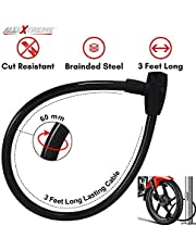 AllExtreme Universal Anti Theft Stainless Steel Cable Lock Coil with 2 Security Keys for Bike