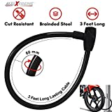 AllExtreme Universal Heavy Duty Cable Lock Stainless Steel Cable Coil Anti Theft Multipurpose
