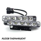 PLC020 10W 12V super helle LED Tagfahrlicht E4 Auto KFZ Tagfahrleuchten daylight