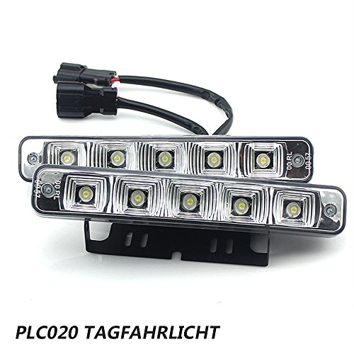 PLC020 10W 12V super helle LED Tagfahrlicht E4 Auto KFZ Tagfahrleuchten daylight Test