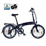 Fitifito Paris 20 Zoll Elektrofahrrad Faltrad Klapprad E-Bike Pedelec, 36V 250W Bafang Heckmotor, 6061 Aluminium Rahmen, Matt Schwarz Grau (Faltbike)