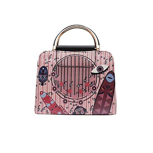 WTUS Damen Schulterbeutel Klassischen Art und Weise Handtaschen Handtasche Messenger bag Beuteltote Farbe2
