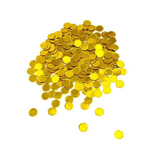 Oblique Unique® Konfetti Gold rund Tisch Konfetti mit Spiegeleffekt für Hochzeit Geburtstag Feier Jubiläum Deko über 300 STK.