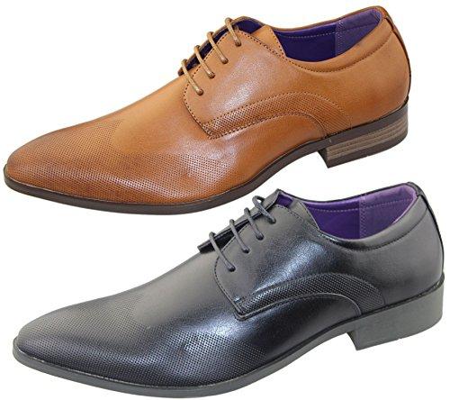 KOLLACHE , Chaussures de ville à lacets pour homme Noir/lacets