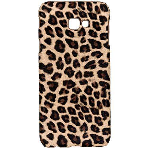hCase Samsung Galaxy J4 Plus (2018) Hülle - Leopard, Wildkatze, Tiermuster - Hard Case Handyhülle Leopard Hard Case Cover