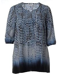 Chalou Damen Tunika Bluse Lange Ärmel elegant lang große Größen ... 0c5f7ad915