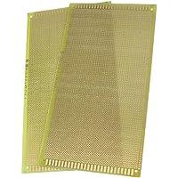 SODIAL(R) 2 Piezas 13 cm x 25 cm Tamano Universal Cobre PCB Tablero De Circuitos Placa perforada