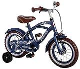 12 Zoll Fahrrad Qualitäts Kinderfahrrad matt Blau Stützräder Blue Cruiser