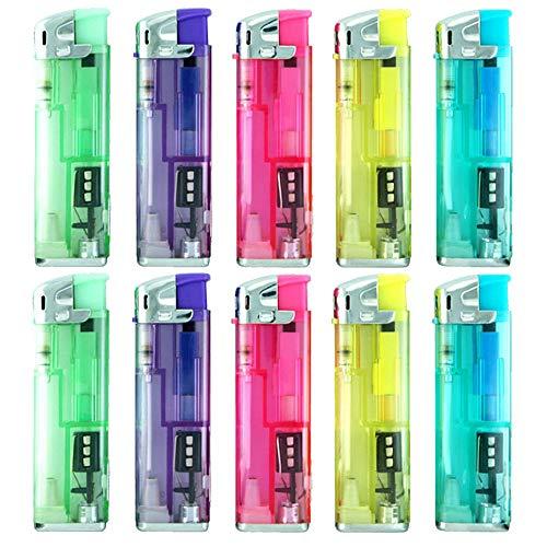 ische Feuerzeuge mit LED 10Stück ()