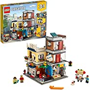 LEGO Creator 3-in-1 Townhouse Pet Shop & Café 31097 Toy Store Building Set with Bank, Town Playset with a