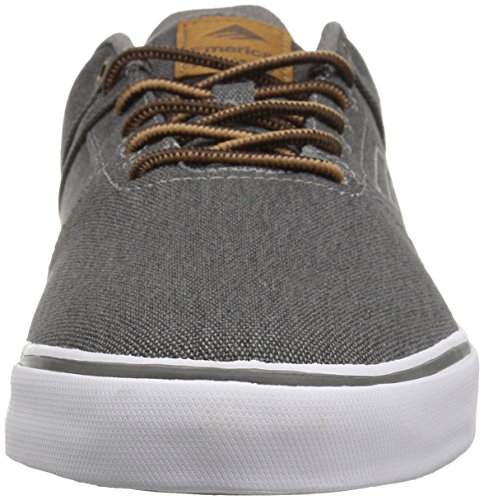 Emerica the Reynolds Low Vulc Bk Wash, Scarpe da Skateboard Uomo Gris (Black Wash 014)