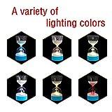 Nachtlicht Lampe,Jaminy Hourglass Timer Nachtlicht Lampe Farbe geändert Sleep Timer Sanduhr Dekoration Sanduhr-Licht/ Nachtlicht /Schlaflicht (Blau)