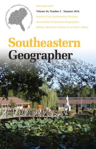 Southeastern Geographer: Summer 2014 Issue (English Edition)